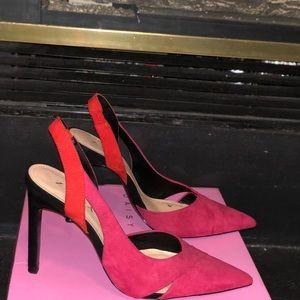Zara 4.5 in. Pink/Orange red sandal - size 8